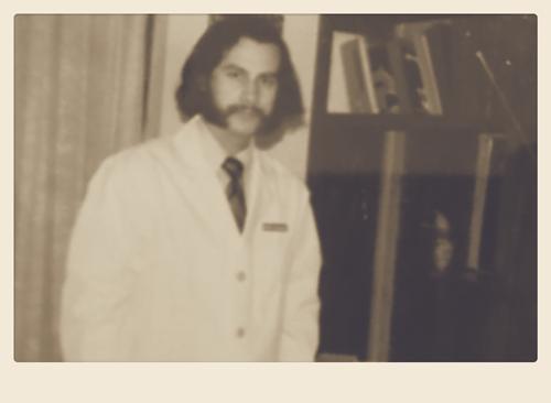 Dr. Hernandez in medical school